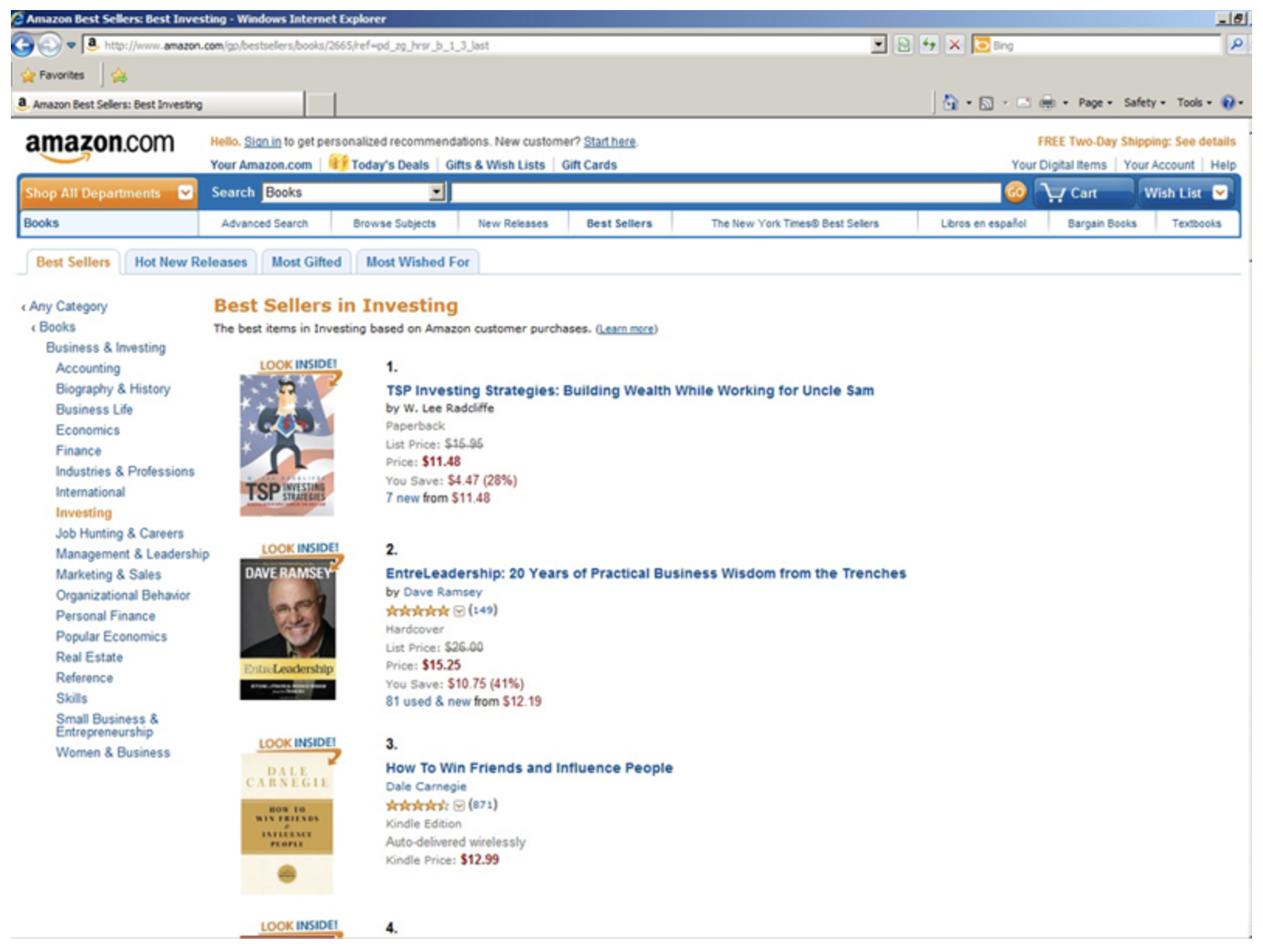 A #1 best-seller on Amazon.com!